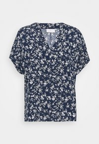 Kaffe - LUPE BLOUSE - T-shirts med print - white / midnight marine flower - 0
