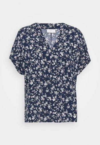 LUPE BLOUSE - Print T-shirt - white / midnight marine flower
