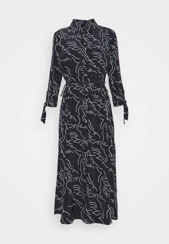 Shirt dress - black print