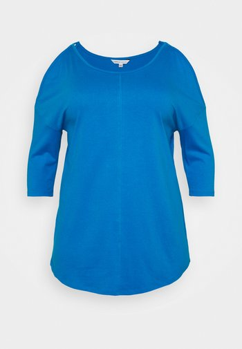 COLD SHOULDER TUNIC - Long sleeved top - blue