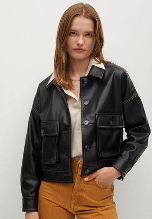 OVER-I - Faux leather jacket - nero