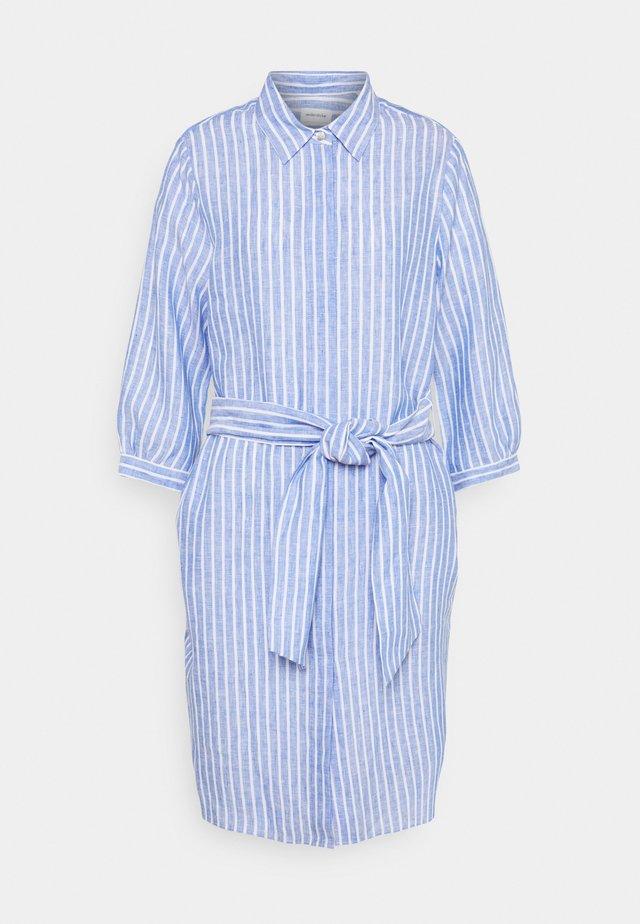 MAXI 3/4 ARM - Shirt dress - blau