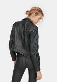 Stradivarius - Leather jacket - black - 2