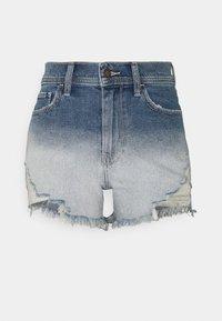 Hollister Co. - OMBRE FRAY HEM - Denim shorts - blue denim - 4