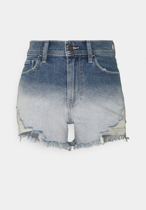 OMBRE FRAY HEM - Denim shorts - blue denim