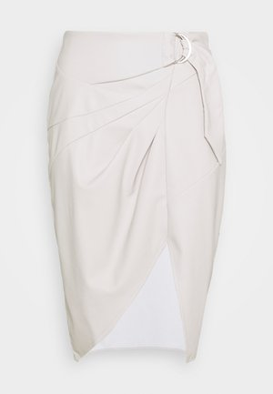 BELTED SKIRT - Gonna a campana - grey