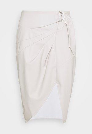 BELTED SKIRT - Áčková sukně - grey