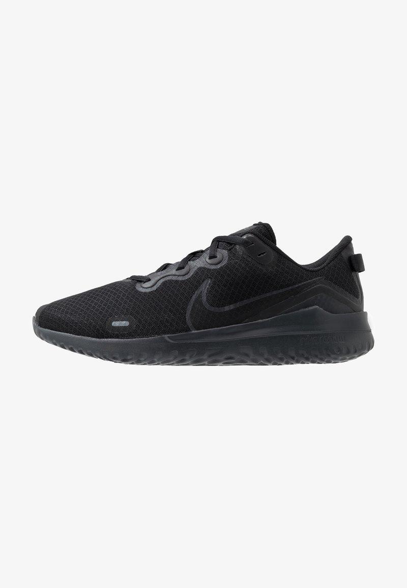 Nike Performance - RENEW RIDE - Neutral running shoes - black/dark smoke grey