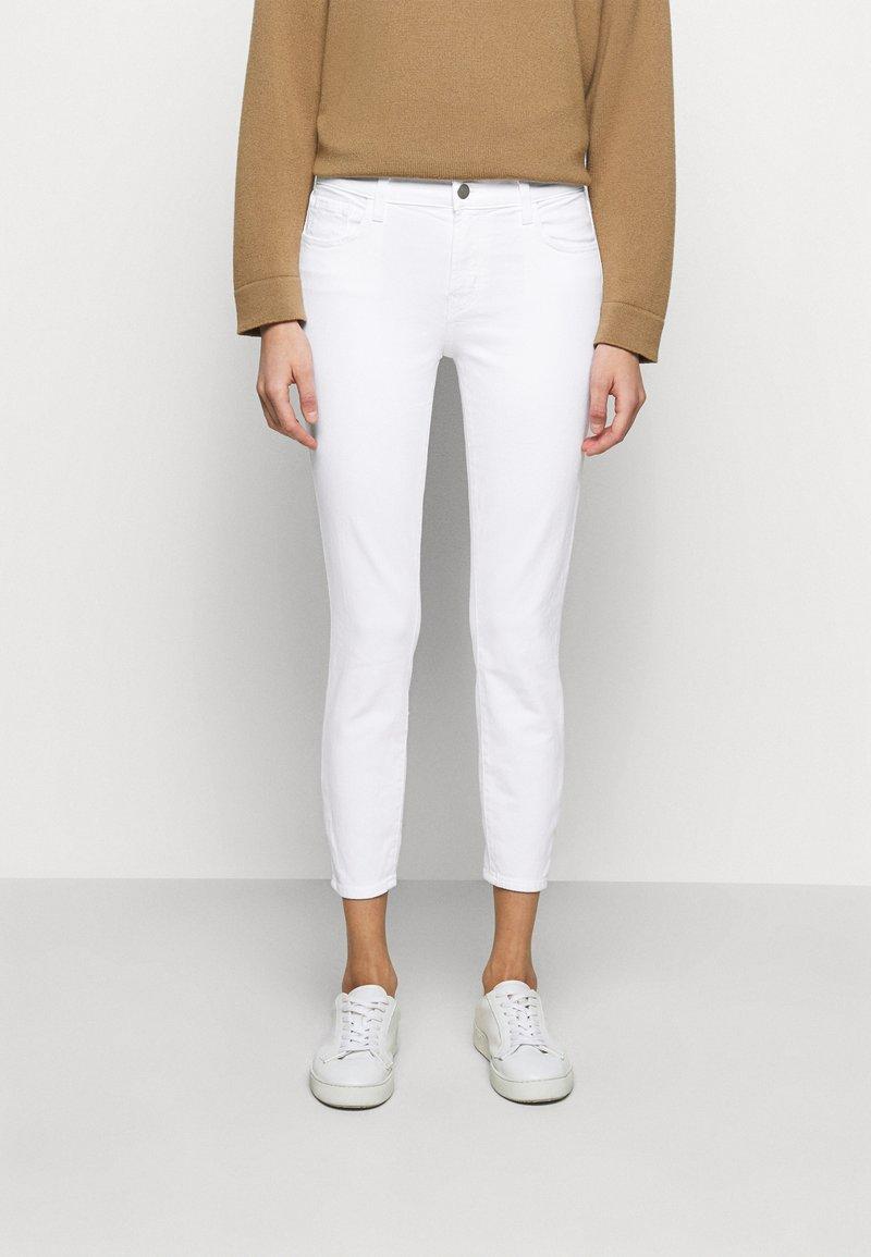 J Brand - MID RISE CROP - Jeans Skinny Fit - blanc