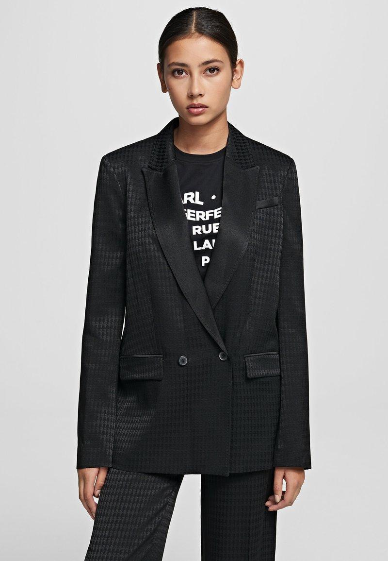KARL LAGERFELD - CAMEO  - Krátký kabát - black