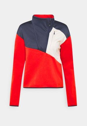 COLUMBIA LODGE™ HYBRID - Sweatshirt - bold orange/chalk/nocturnal