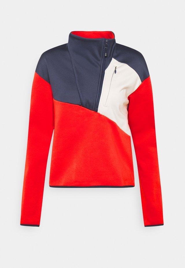 COLUMBIA LODGE™ HYBRID - Sweater - bold orange/chalk/nocturnal