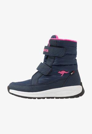 K-FLOSSY RTX - Snowboots  - dark navy/daisy pink