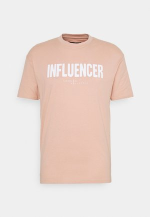 INFLUENCER UNISEX - Camiseta estampada - pink