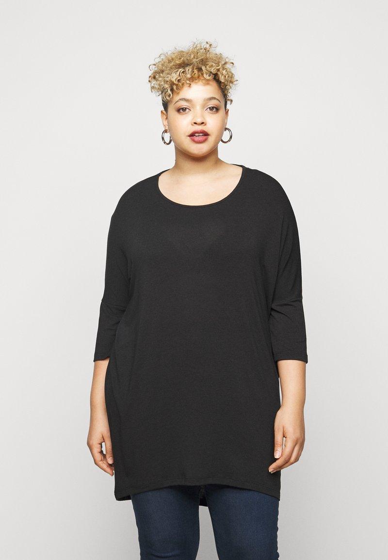 Vero Moda Curve - VMHONIE LOOSE - Long sleeved top - black beauty