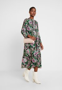 Rich & Royal - DRESS WITH PIN TUCKS - Denní šaty - multi-coloured/black/neon pink - 2