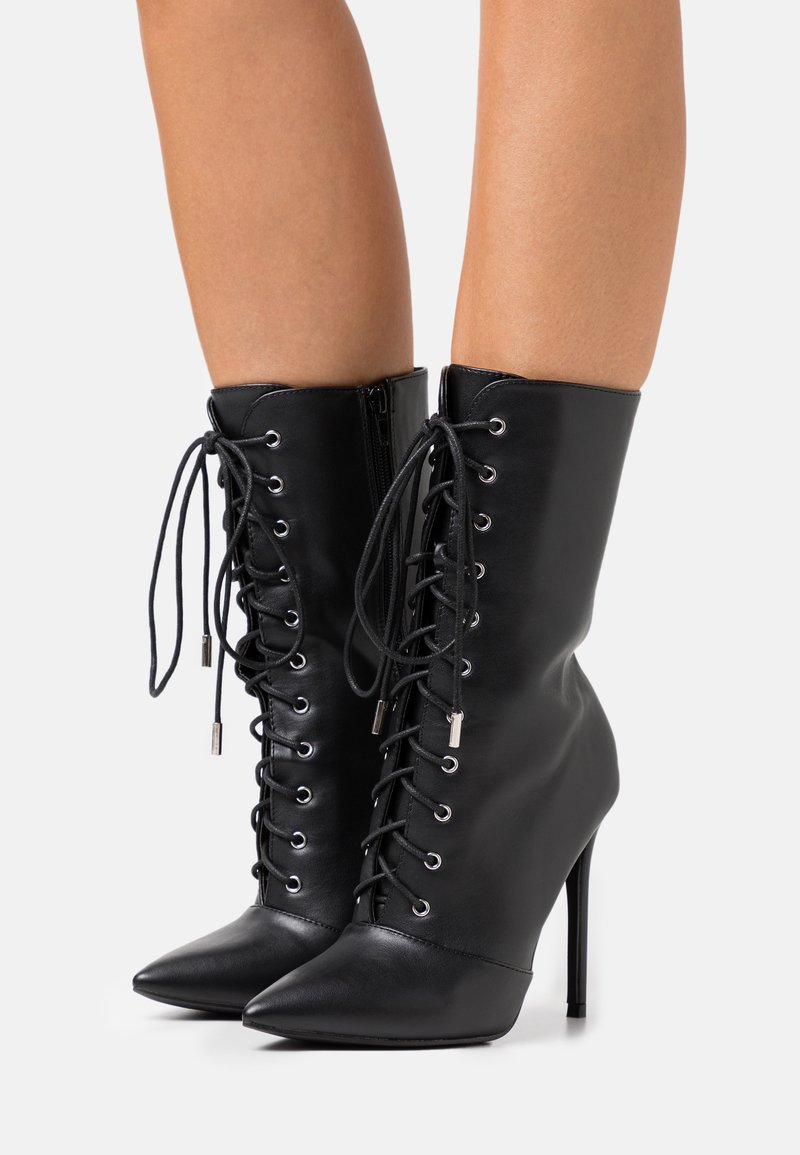 Glamorous - High heeled ankle boots - black