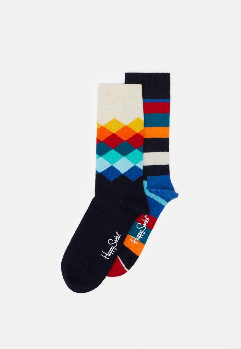 Happy Socks - STRIPES FADED DIAMOND UNISEX 2 PACK - Socks - multi-coloured