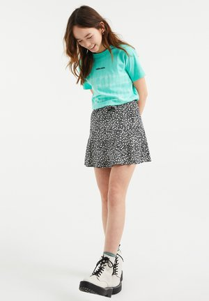 Print T-shirt - mint green