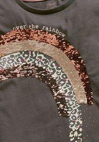Next - RAINBOW SEQUIN - Print T-shirt - grey - 2