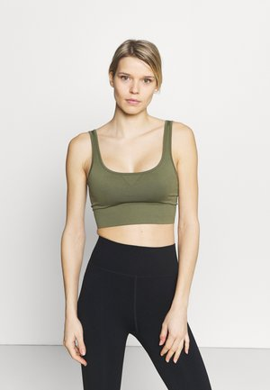 Light support sports bra - khaki/green