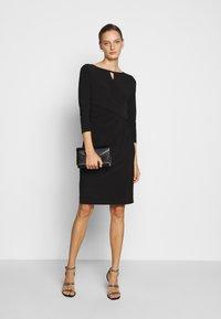 Lauren Ralph Lauren - MID WEIGHT DRESS TRIM - Shift dress - black - 1