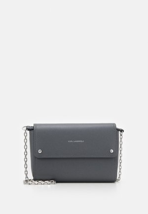 IKON POCHETTE ON CHAIN - Across body bag - thunder