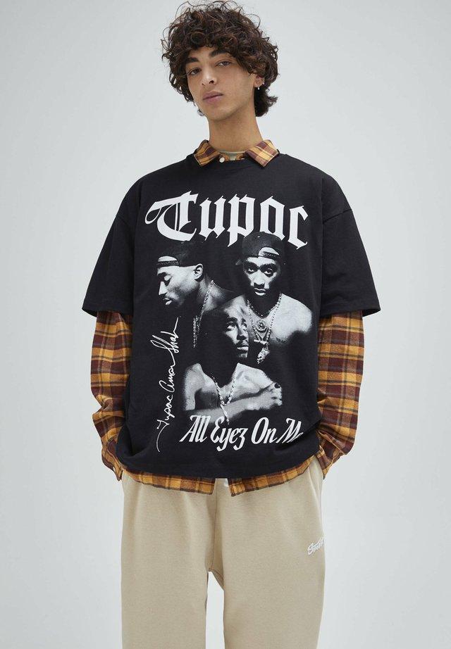 T-Shirt print - mottled black