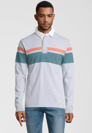 ASH  - Poloshirt - grey marl stripe