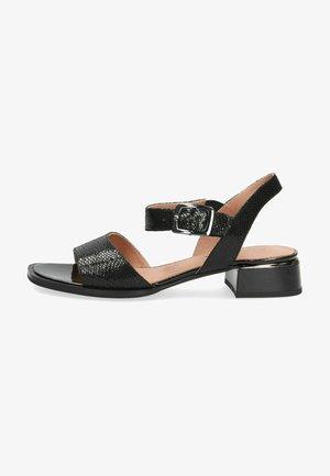 Sandals - black reptile