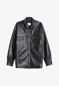 Bershka - Faux leather jacket - black - 4