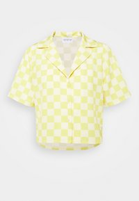 Glamorous - MAYA CROP SHIRT WITH OPEN WIDE COLLAR  - Overhemdblouse - green checkboard - 3