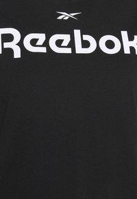Reebok - LINEAR LOGO TEE - Print T-shirt - black - 4