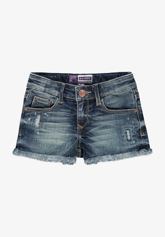 Denim shorts - mid blue stone