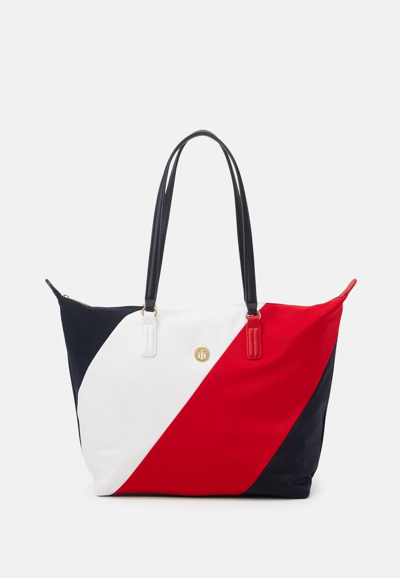 Tommy Hilfiger - POPPY TOTE STRIPES - Tote bag - blue