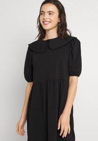 ONLY - ONLLIVE LOVE COLLAR DRESS - Vapaa-ajan mekko - black - 3