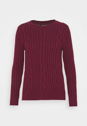 DOORBUSTER CREW CABLE - Pullover - burgundy