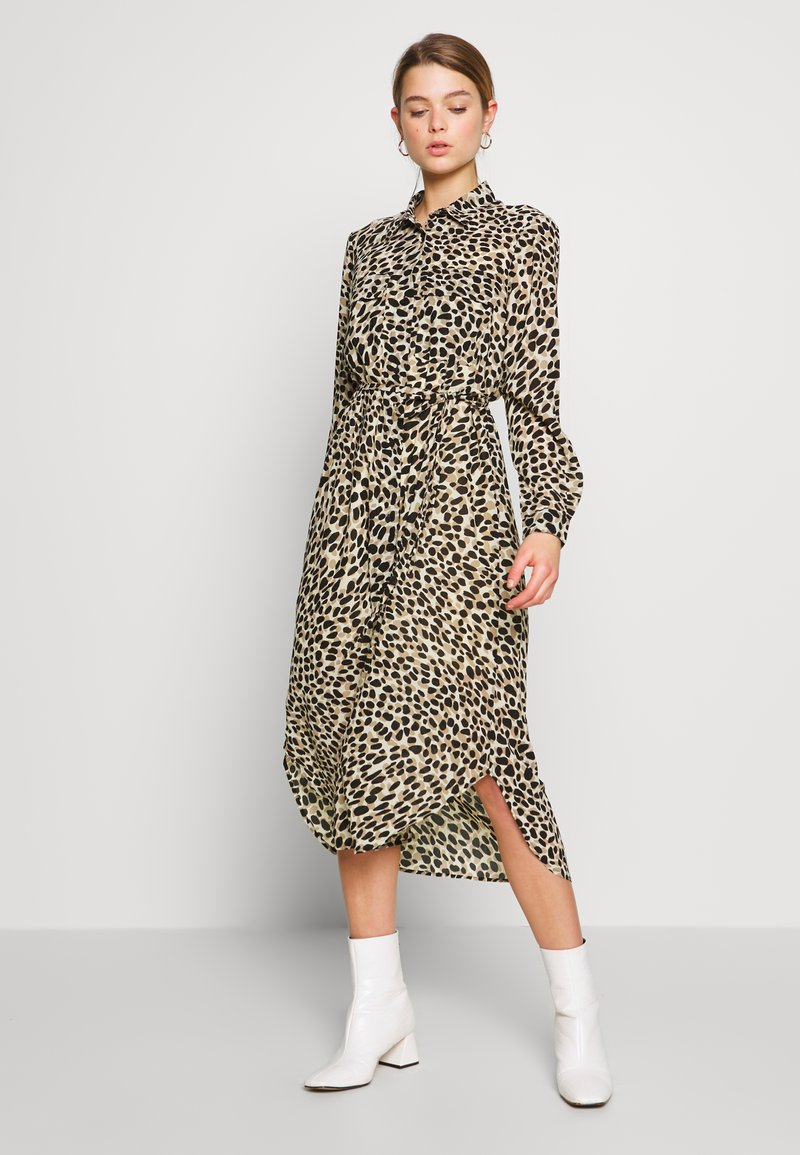 Great Plains London - CARA LEOPARD - Denní šaty - beige