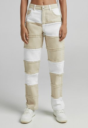 Jeans straight leg - camel