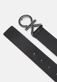 Calvin Klein - ENAMEL  - Belt - black - 1