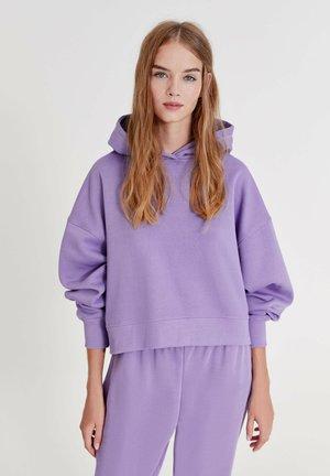 Hoodie - mottled purple