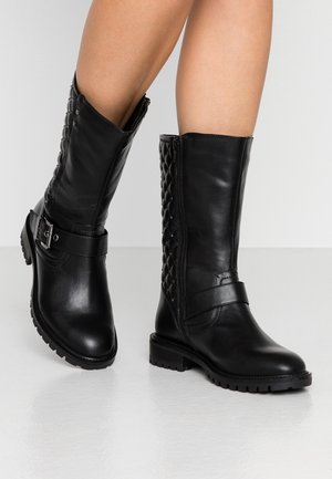 WIDE FIT ARLO QUILTED - Cowboy/Biker boots - black