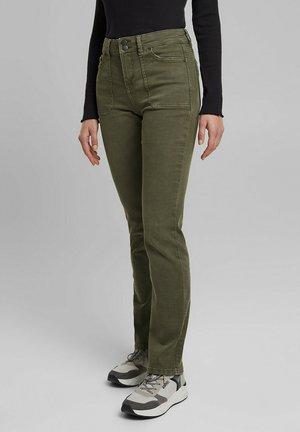 Straight leg jeans - khaki green