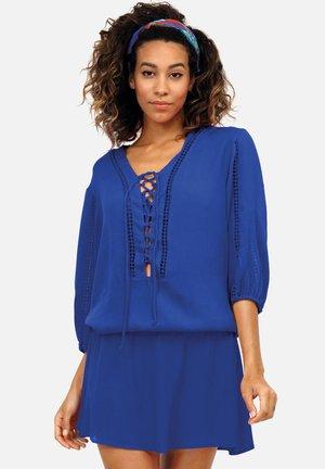 Tunika - niebieska, haft boho