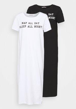 2 PACK - Noční košile - white/black