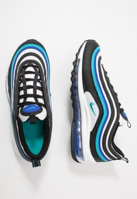 Nike Sportswear - AIR MAX 97 UNISEX - Sneakers laag - black/oracle aqua/white/hyper blue - 0
