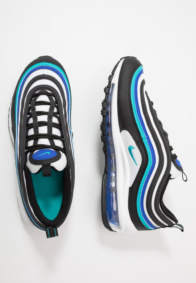 Nike Sportswear - AIR MAX 97 UNISEX - Sneakers laag - black/oracle aqua/white/hyper blue