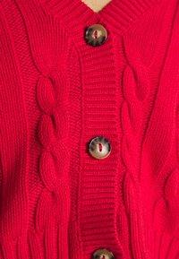 Monki - NORAH CARDIGAN - Chaqueta de punto - red bright - 4
