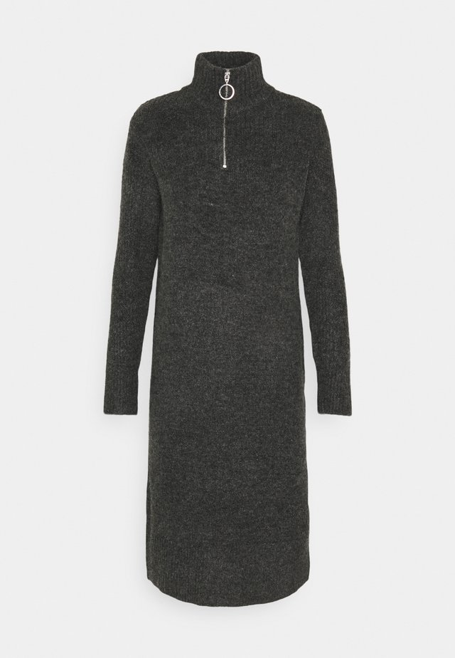 NMDOMINIC KNEE  - Robe d'été - dark grey melange