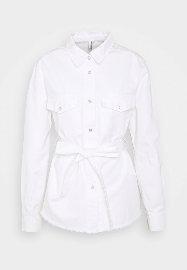 BELTED WORKER - Blusa - white